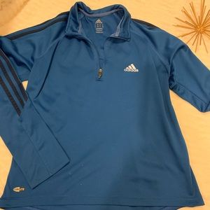 Excellent Condition Adidas Blue 3/4 Zip Jacket Med
